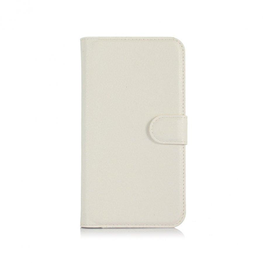 Acer Liquid Z630 Litsi Pintainen Nahkakotelo Korttitaskuilla Valkoinen