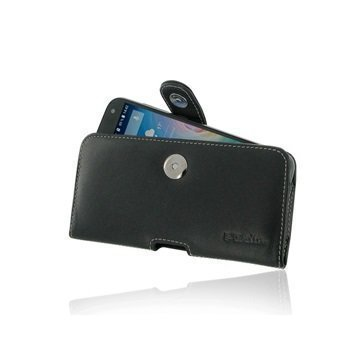 Acer Liquid Z630 PDair Vaakasuuntainen Nahkakotelo Musta