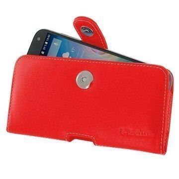 Acer Liquid Z630 PDair Vaakasuuntainen Nahkakotelo Punainen