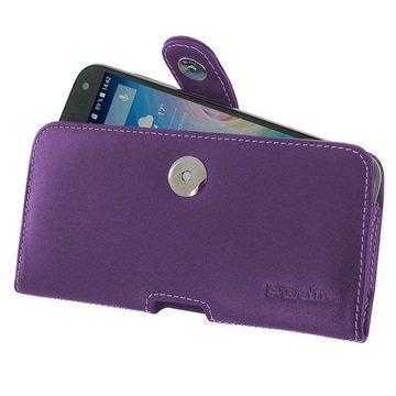 Acer Liquid Z630 PDair Vaakasuuntainen Nahkakotelo Violetti