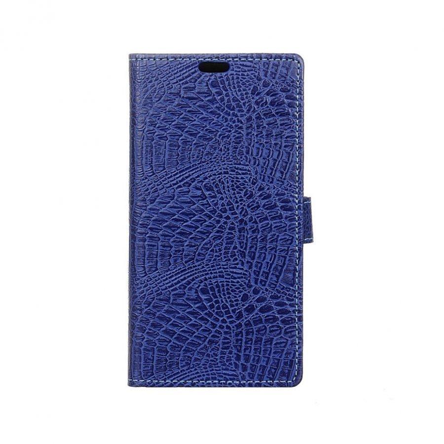 Acer Liquid Zest Plus Krokotiilinnahka Kotelo Lompakko Tummansininen