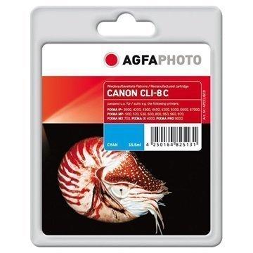 AgfaPhoto APCCLI8CD Mustepatruuna Canon CLI-8C Syaani