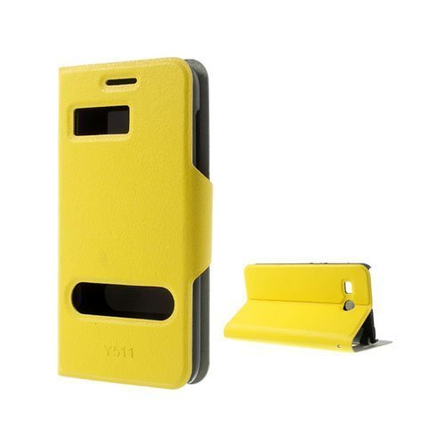 Ahlmark Keltainen Huawei Ascend Y511 Nahkakotelo