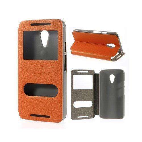 Ahlmark Oranssi Motorola Moto G2 Nahkakotelo