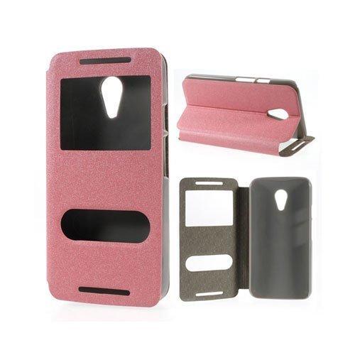 Ahlmark Vaaleanpunainen Motorola Moto G2 Nahkakotelo