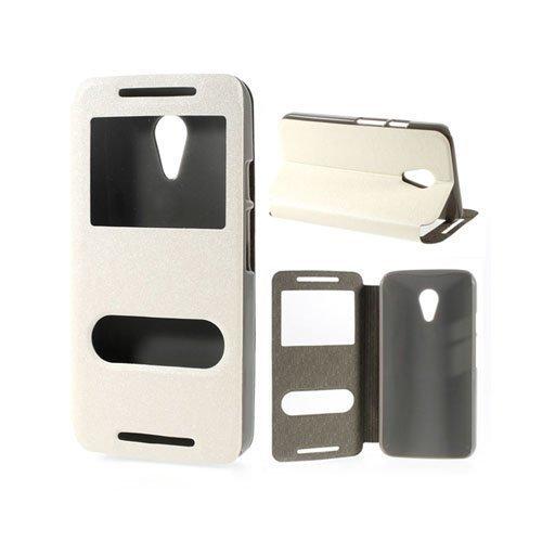 Ahlmark Valkoinen Motorola Moto G2 Nahkakotelo