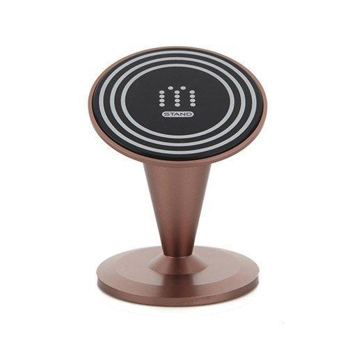 Aholdb Ms1 Alumiininen Magneetti Pöytäteline Älypuhelimille Ja Tableteille Ruskea