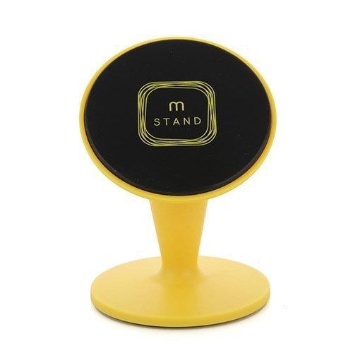 Aholdb Ms2 360-Astetta Kääntyvä Magneettinen Pöytäteline Älypuhelimille Ja Tableteille Keltainen