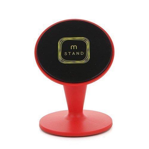Aholdb Ms2 360-Astetta Kääntyvä Magneettinen Pöytäteline Älypuhelimille Ja Tableteille Punainen