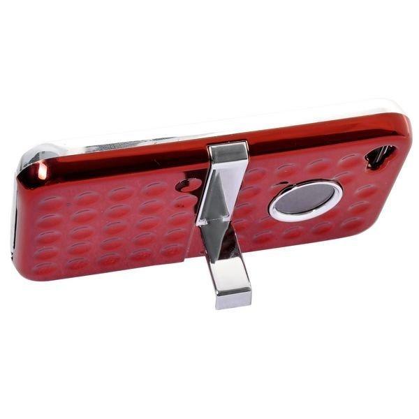 Airo Chrome Punainen Iphone 4s Suojakuori Standillä