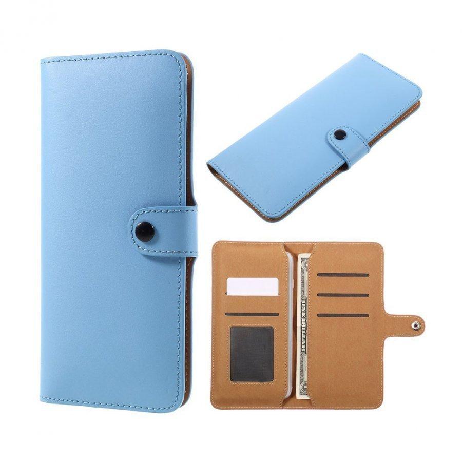 Aito Nahkakotelo Lompakko Älypuhelimille Sininen
