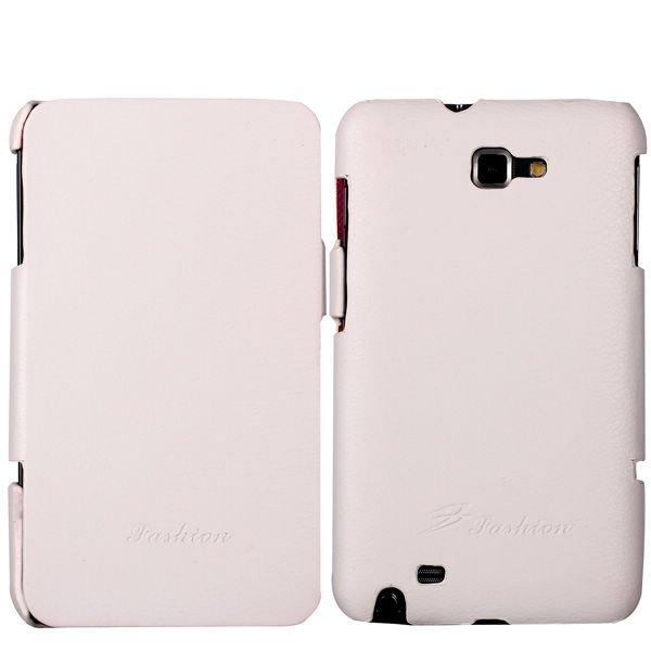 Aito Samsung Galaxy Note Nahkakotelo Valkoinen