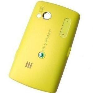 Akku kansi Sony Ericsson X10 Pro Mini yellow Alkuperäinen