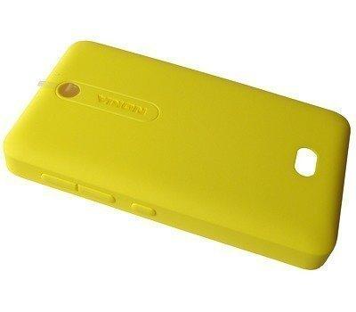 Akkukansi / Takakansi Asha 501/ Asha 501 Dual SIM yellow