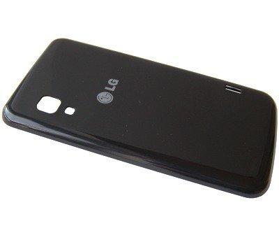 Akkukansi / Takakansi LG E455 Optimus L5 Dual II musta