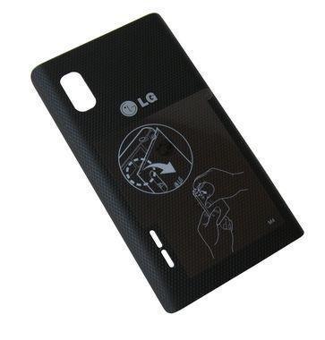 Akkukansi / Takakansi LG E610 Optimus L5 musta