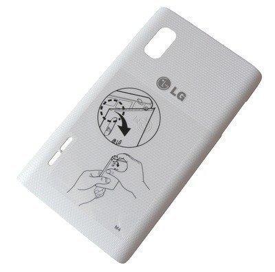 Akkukansi / Takakansi LG E610 Optimus L5 valkoinen