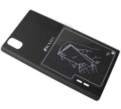 Akkukansi / Takakansi LG P940 Prada 3.0 musta