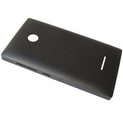 Akkukansi / Takakansi Microsoft Lumia 435/ Lumia 435 Dual Sim musta