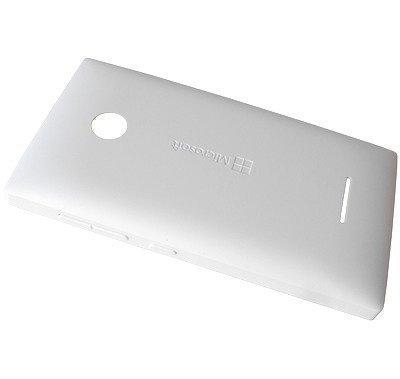 Akkukansi / Takakansi Microsoft Lumia 435/ Lumia 435 Dual Sim valkoinen