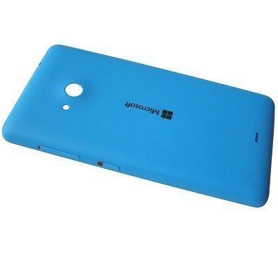 Akkukansi / Takakansi Microsoft Lumia 535/ Lumia 535 Dual SIM cyan