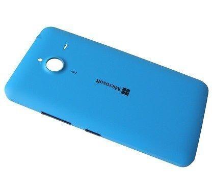 Akkukansi / Takakansi Microsoft Lumia 640 XL cyan