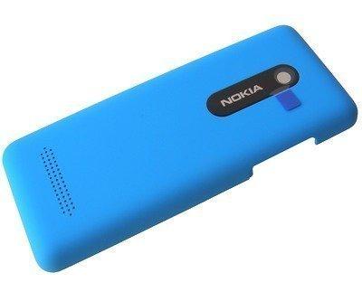 Akkukansi / Takakansi Nokia 206 Asha Dual SIM cyan