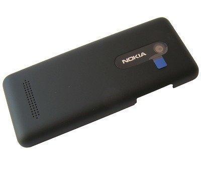 Akkukansi / Takakansi Nokia 206 Asha Dual SIM musta