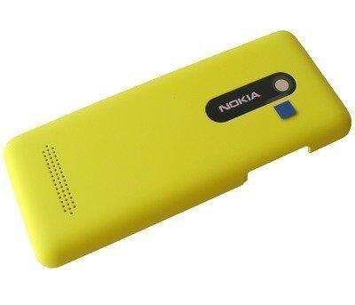 Akkukansi / Takakansi Nokia 206 Asha Dual SIM yellow