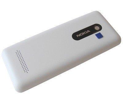 Akkukansi / Takakansi Nokia 206 Asha valkoinen