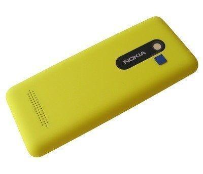 Akkukansi / Takakansi Nokia 206 Asha yellow
