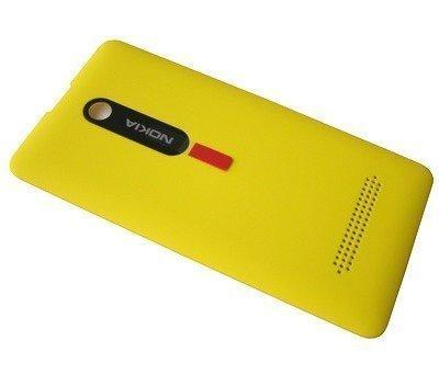 Akkukansi / Takakansi Nokia 210/ 210 Asha Dual SIM yellow
