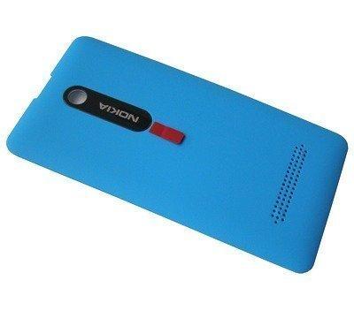 Akkukansi / Takakansi Nokia 210 Asha/ 210 Asha Dual SIM cyan