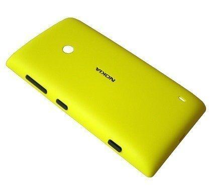 Akkukansi / Takakansi Nokia Lumia 520 yellow