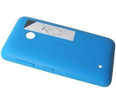 Akkukansi / Takakansi Nokia Lumia 530/ Lumia 530 Dual SIM cyan