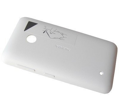 Akkukansi / Takakansi Nokia Lumia 530/ Lumia 530 Dual SIM valkoinen