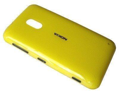 Akkukansi / Takakansi Nokia Lumia 620 yellow