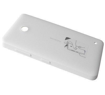 Akkukansi / Takakansi Nokia Lumia 630/ Lumia 630 Dual SIM/ Lumia 635/ Lumia 636 valkoinen