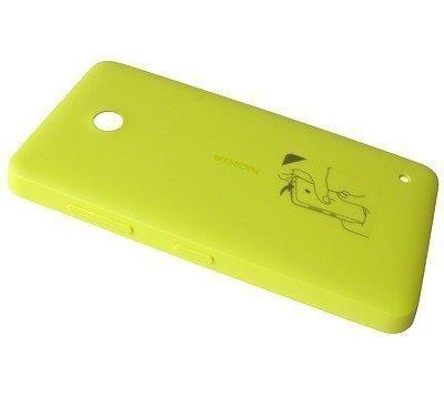 Akkukansi / Takakansi Nokia Lumia 630 yellow