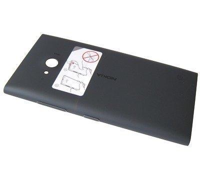 Akkukansi / Takakansi Nokia Lumia 730 / Lumia 735 dark gray / musta