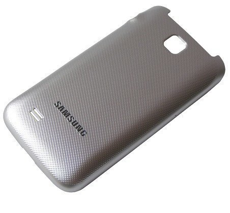 Akkukansi / Takakansi Samsung C3520 metalic silver