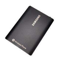 Akkukansi / Takakansi Samsung GT-i8700 Omnia 7 musta