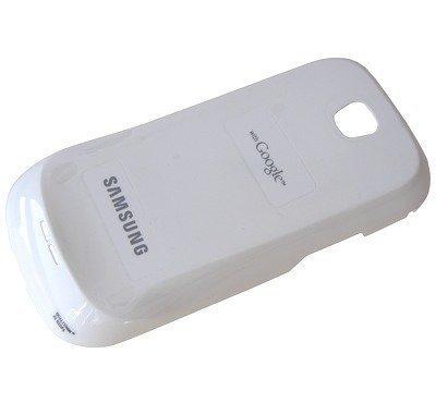 Akkukansi / Takakansi Samsung I5800 valkoinen