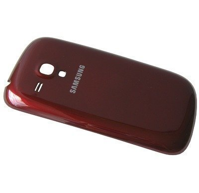 Akkukansi / Takakansi Samsung I8200 Galaxy S3 mini VE red