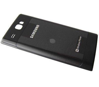 Akkukansi / Takakansi Samsung I8350 Omnia W musta