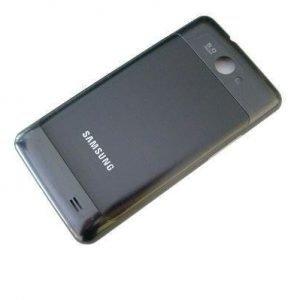 Akkukansi / Takakansi Samsung I9103 Galaxy S II Galaxy Z Galaxy R- grey metallic