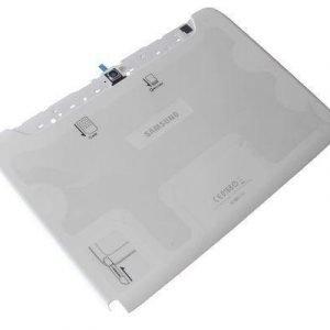 Akkukansi / Takakansi Samsung N8000 Galaxy Note 10.1 valkoinen