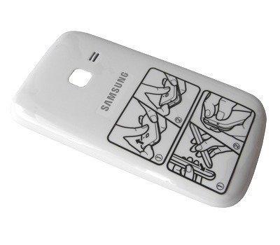 Akkukansi / Takakansi Samsung S3570 Ch@t 357 valkoinen