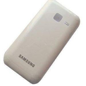 Akkukansi / Takakansi Samsung S5380 Wave Y valkoinen