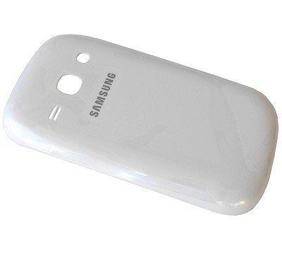 Akkukansi / Takakansi Samsung S6810 Galaxy Fame valkoinen